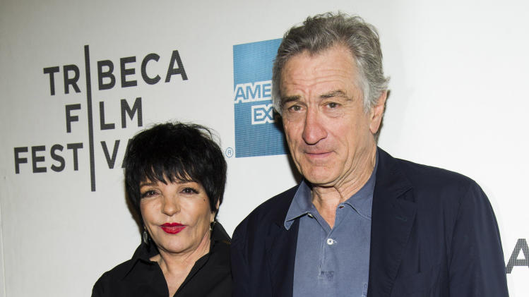 "Liza Minnelli and Robert De Niro attend the premiere of ""Mistaken For Strangers"" during the opening night of the 2013 Tribeca Film Festival on Wednesday April 17, 2013 in New York. (Photo by Charles Sykes/Invision/AP)"