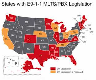 Your Business Phone System Could Be At Risk for Penalties   Or Lawsuits image 18 States Map thumb 600x499 9011