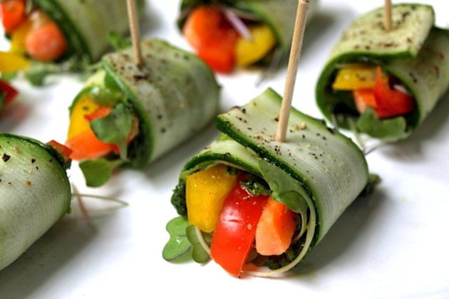 Recipe: Raw Zucchini Wraps