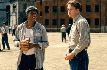 Morgan Freeman and Tim Robbins in Warner Brothers' The Shawshank Redemption