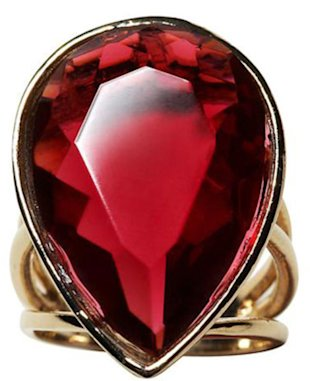 Banana Republic Red Teardrop Ring