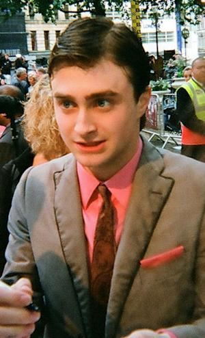 Daniel Radcliffe arrives at the London premier of Harry Potter and the Half-Blood Prince