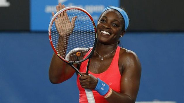 Sloane Stephens has denied she was celebrating the shock fourth round exit of world number one Serena Williams (Reuters)