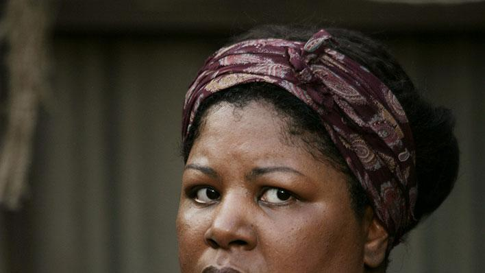 Cleo King stars in Deadwood on HBO.
