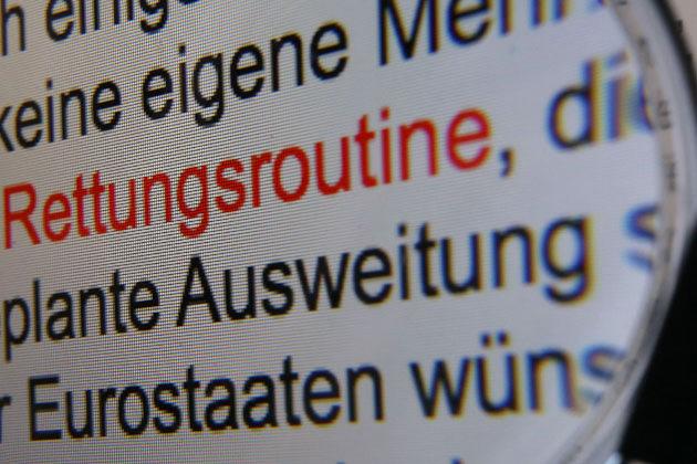 """""""Rettungsroutine"""" ist das Wort des Jahres (Bild: dpa)"""