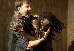 David Morrissey, Danai Gurira | Photo Credits: Gene Page/AMC