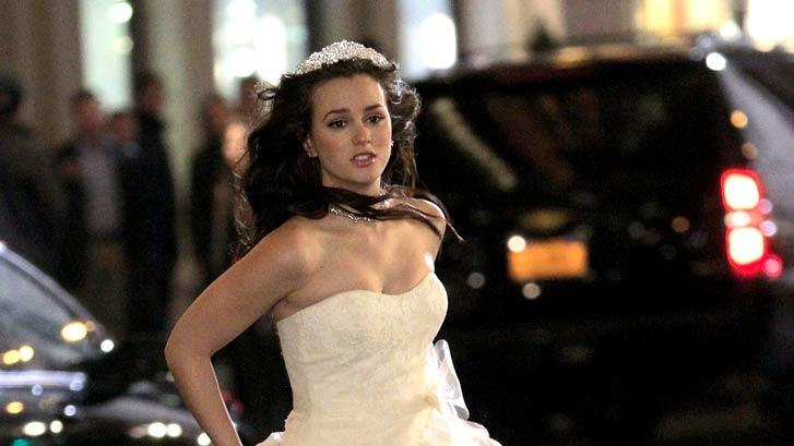 Leighton Meester Gossip Girl Set