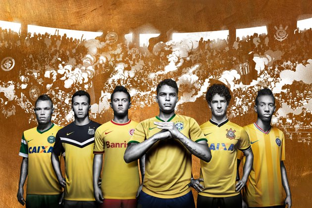 Five Brazilian clubs launch yellow third kits