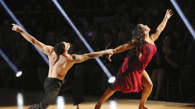 Mark Ballas  and Alexandra Raisman (4/8/13)
