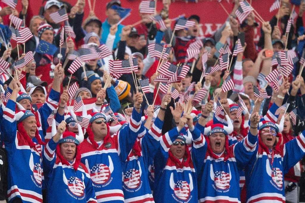 The atmosphere at the Ryder Cup sounded more like a football game than a golf tournament. (AP)