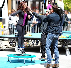 Megan Fox Jumps on a Trampoline: See Her in Action!