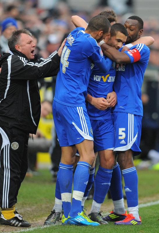 Macclesfield Town's English Midfielder Colin Daniel (2R) Celebrates AFP/Getty Images