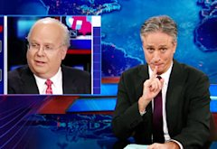 Karl Rove, Jon Stewart | Photo Credits: Comedy Central