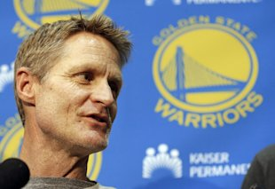 Steve Kerr is taking an indefinite leave of absence from the Warriors' bench. (AP)