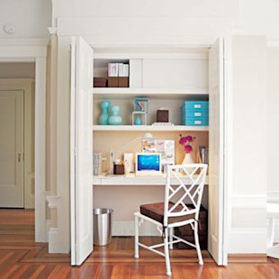 Easy Closet-Turned-Office