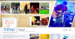 How To Leverage Facebook for Marketing B2B Brands image Infosys Facebook Cover Photo