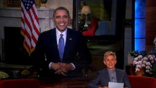 Ellen Checks in On President Obama