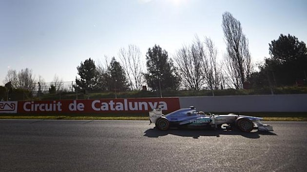 2013 Tests Montmelo Mercedes Hamilton