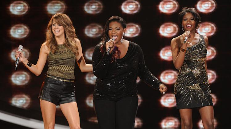 """American Idol"" Top 8 - Angie Miller, Candice Glover and Amber Holcomb"