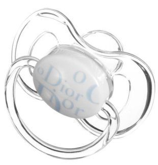 Baby Dior pacifiers cost $50 each. Photo courtesy of Barneys