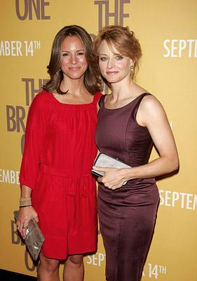Jodie Foster and Producer Susan Downey at the New York City Premiere of Warner Bros. Pictures' The Brave One