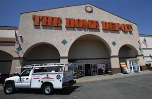 The entrance to The Home Depot store is pictured in Monrovia, California