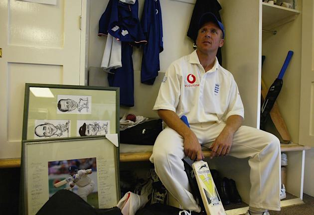 Alec Stewart in the changing room reflects on England's victory
