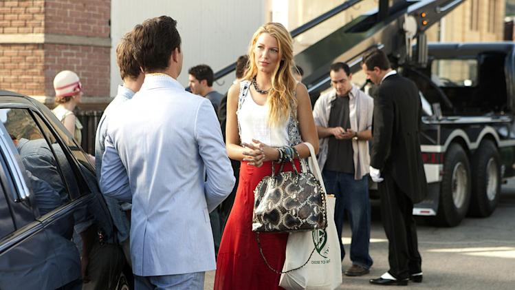 "Blake Lively as Serena van der Woodsen in the Season 5 premiere episode of ""Gossip Girl."""