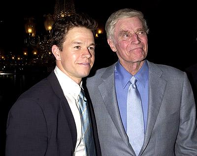 Mark Wahlberg and Charlton Heston at the New York premiere of 20th Century Fox's Planet Of The Apes