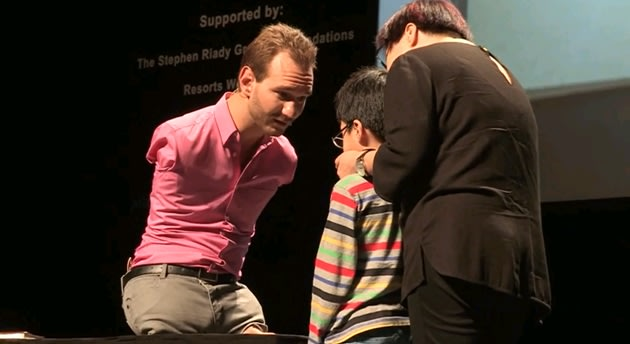 Nick Vujicic was born without arms and legs, inspiring millions