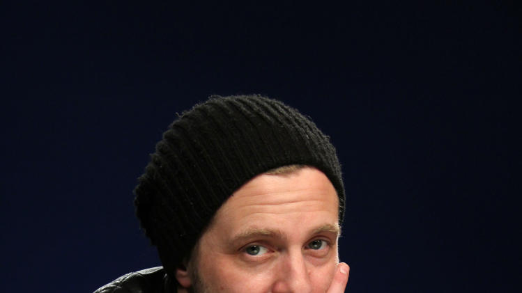 "This Feb. 27, 2013 photo shows OneRepublic frontman Ryan Tedder in New York. OneRepublic's third album, ""Native,"" was released on March 26. (AP Photo/John Carucci)"
