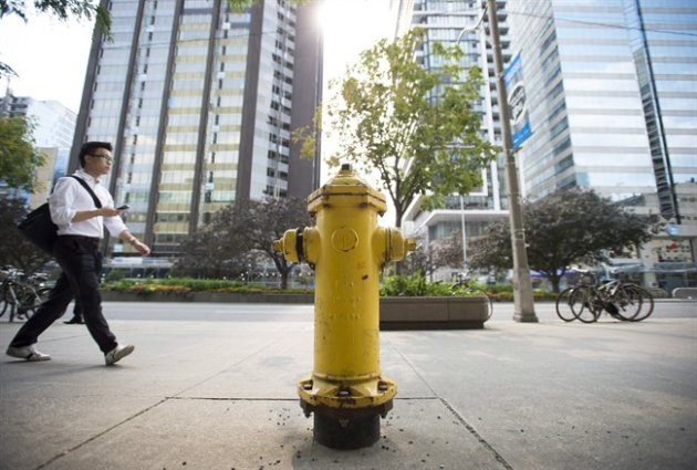 Toronto's most lucrative fire hydrant, at 393 University Avenue.