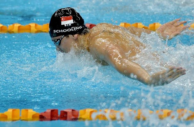 Singapore's Joseph Schooling competes in the men's 200m butterfly final during the 28th Southeast Asian Games (SEA Games) in Singapore, on June 8, 2015