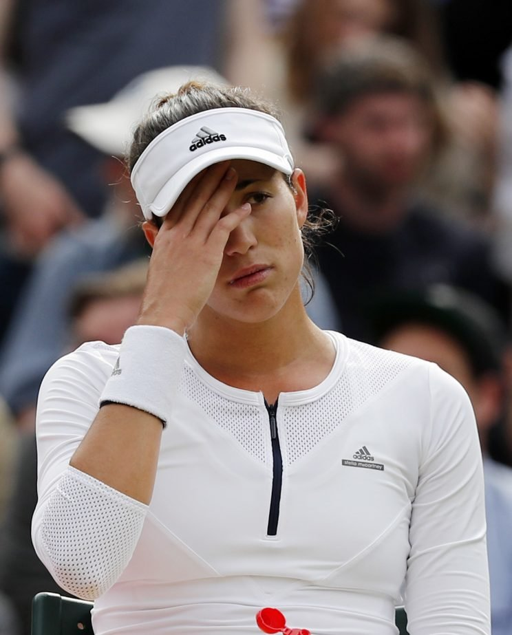 Garbine Muguruza fell to Jana Cepelova in a stunning upset. (AP Photo/Ben Curtis)