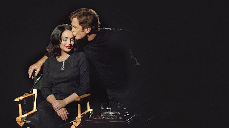 "This publicity image released by Lifetime shows Grant Bowler as Richard Burton, right, and Lindsay Lohan as Elizabeth Taylor in the Lifetime Original Movie, ""Liz & Dick,"" premiering Sunday, Nov. 25, at 9 p.m. EST. (AP Photo/Lifetime, Jack Zeman)"