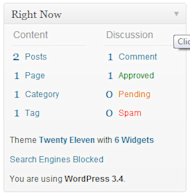 Understanding and Customising the WordPress Dashboard image widget toggle