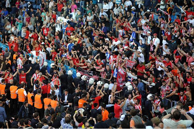 Supporters Of Olympiacos Celebrate AFP/Getty Images