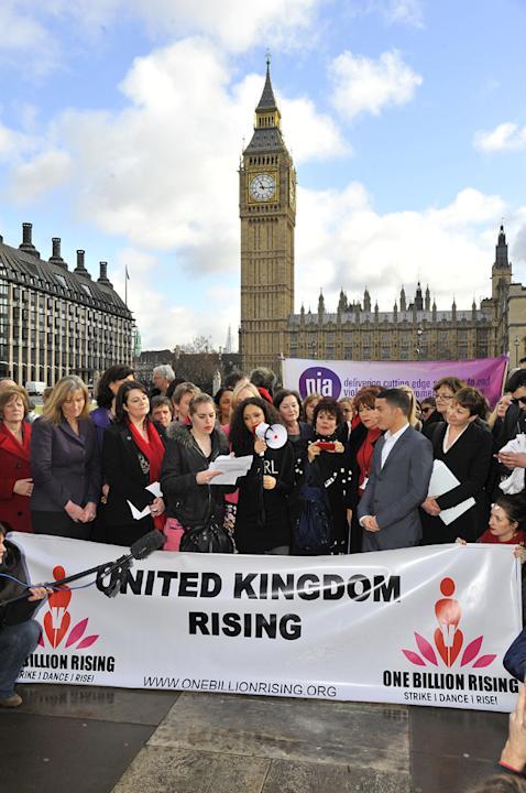 Thandie Newton at the launch of One Billion Rising with Jahmene Douglas, Yvette Cooper and Ruby Wax (Ray Tang/Rex Features)