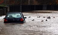 Thousands Lose Power As Rain Batters Britain