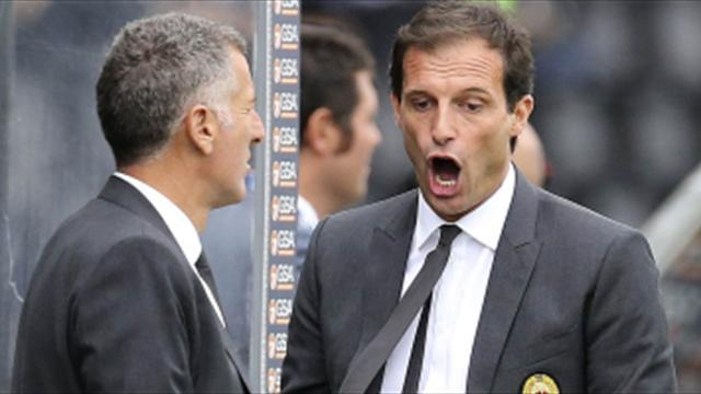 Serie A - Milan in no-man's land as Berlusconi snubs Allegri again