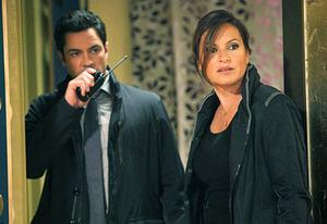 Danny Pino and Mariska Hargitay | Photo Credits: Eric Leibowitz/NBC