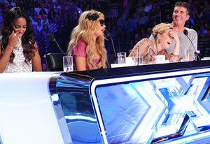 Kelly Rowland, Demi Lovato, Paulina Rubio and Simon Cowell | Photo Credits: Ray Mickshaw/Fox