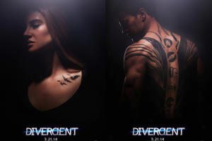 Shailene Woodley, Theo James Are Tatted Up in New 'Divergent' Posters (Photo)
