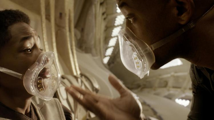 "This film publicity image released by Sony - Columbia Pictures shows Jaden Smith, left, and Will Smith in a scene from ""After Earth."" (AP Photo/Sony, Columbia Pictures)"