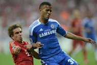 Chelsea defender Ryan Bertrand (right) vies for the ball with Bayern Munich's Philipp Lahm during their UEFA Champions League final football match on May 19. Chelsea stars Frank Lampard and John Terry have heaped praise on Bertrand after the 22-year-old made his Champions League debut