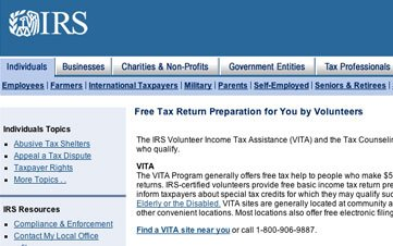 Free Tax Software and Guidance