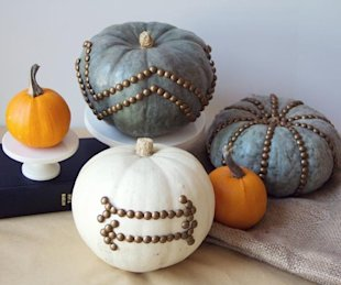 Furniture-nail pumpkins