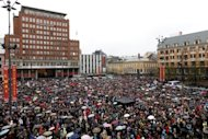 Thousands gather in Oslo to sing a song hated by mass murderer Anders Behring Breivik on April 26. The Norwegian prison where Anders Behring Breivik may be locked up for massacring 77 people last year will hire people with whom he can socialise, to keep him away from other inmates, media reported Thursday