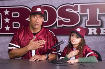 Dwayne 'The Rock' Johnson and Madison Pettis in Walt Disney Pictures' The Game Plan