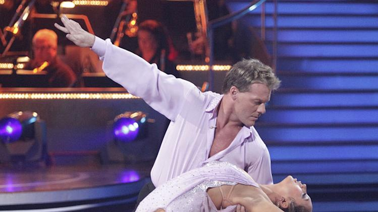"Chris Jericho and Cheryl Burke perform on ""Dancing with the Stars."""